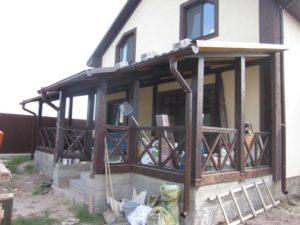 Деревянные ограждения террас фото №2