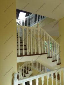Облицовка лестниц деревом, фото №7