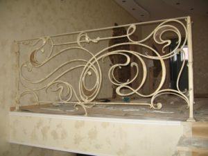 Кованые перила в стиле модерн №12