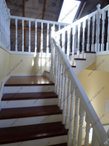 Облицовка лестниц деревом, фото №8