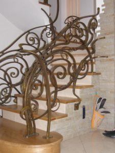 Кованые перила в стиле модерн №14