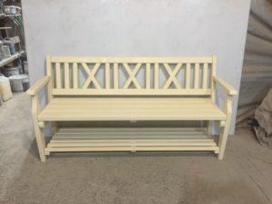 Деревянные скамейки фото №13