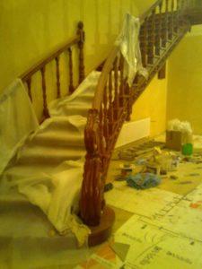 Гнутые перила из дерева №2