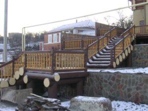 Лестницы из сруба фото №2