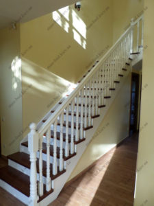 Облицовка лестниц деревом, фото №6