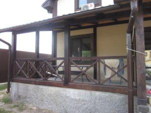 Деревянные ограждения террас фото №3