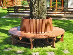 Скамейка вокруг дерева №3