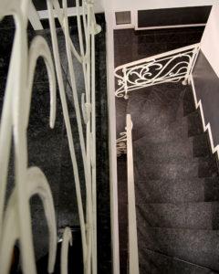 Кованые перила в стиле модерн №4