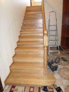 Облицовка лестницы, после