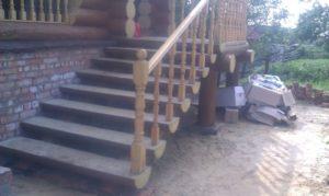 Лестницы из сруба фото №5