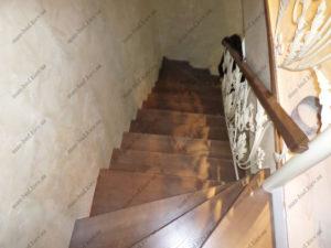Облицовка лестниц деревом, фото №10