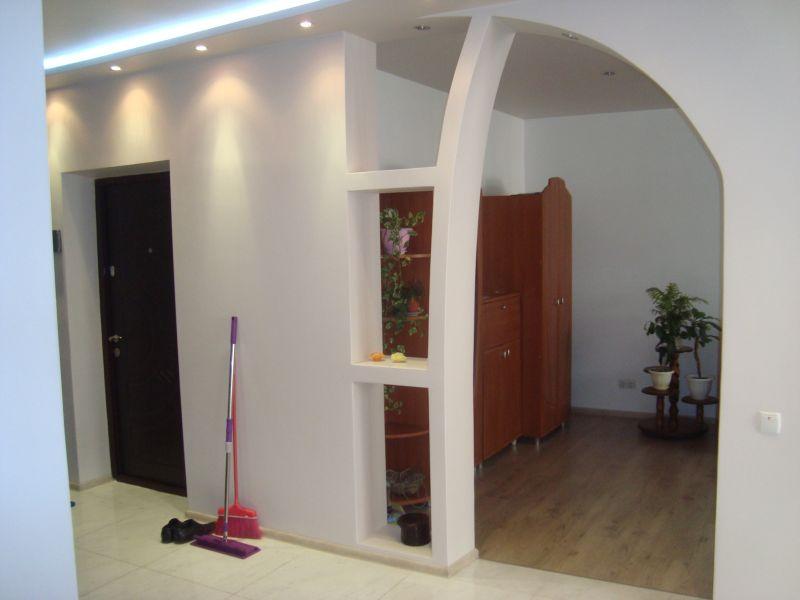 Фото арка между коридором и залом для