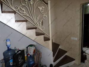 Облицовка лестниц деревом, фото №11