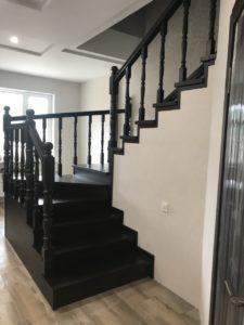 Деревянная лестница №B4