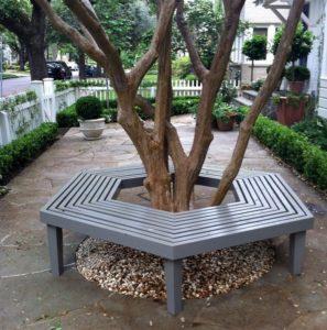 Скамейка вокруг дерева №7