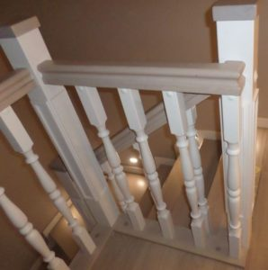 Деревянная лестница №B5