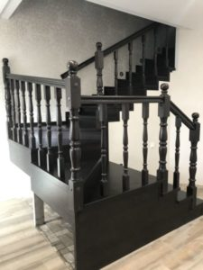 Деревянная лестница №B1