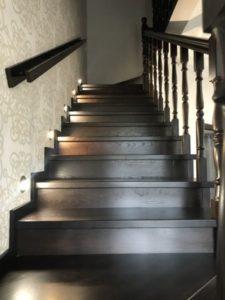 Деревянная лестница №B3