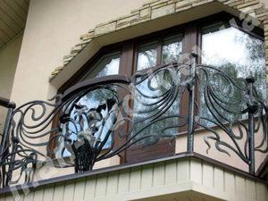 Кованые балконы фото №136