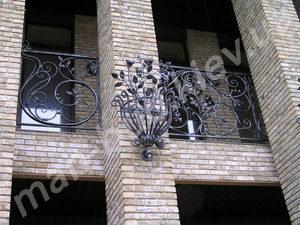 Кованые балконы фото №138