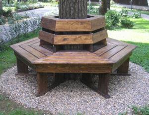 Скамейка вокруг дерева №8