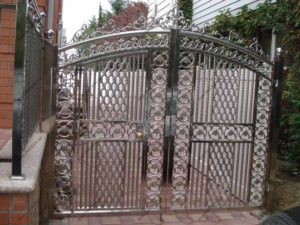 Ворота из нержавейки №1