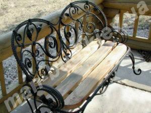 Кованые скамейки фото №7