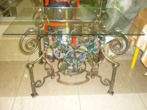 Кованые столы и стулья фото №20