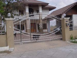 Ворота из нержавейки №9