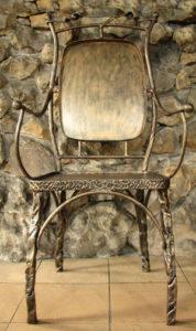 Кованые столы и стулья фото №23