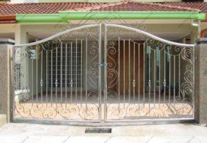 Ворота из нержавейки №8
