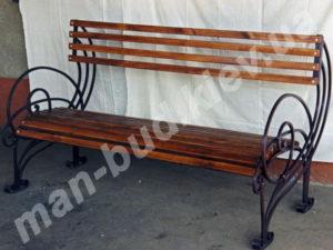 Кованые скамейки фото №9