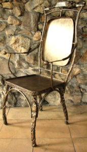 Кованые столы и стулья фото №22