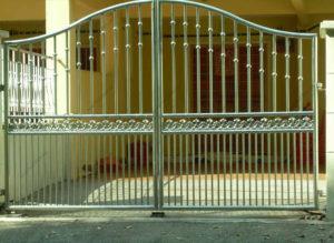 Ворота из нержавейки №12