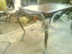 Кованые столы и стулья фото №29