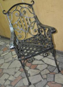 Кованые столы и стулья фото №25