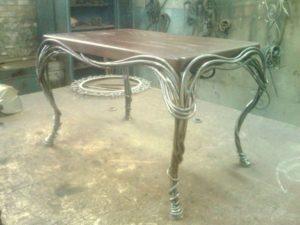 Кованые столы и стулья фото №30