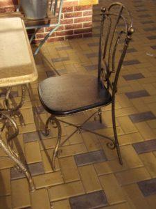 Кованые столы и стулья фото №27
