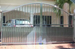 Ворота из нержавейки №14