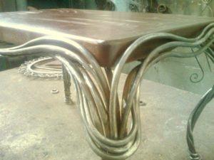 Кованые столы и стулья фото №31