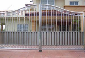 Ворота из нержавейки №15