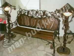 Кованые скамейки фото №13