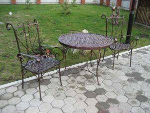 Кованые столы и стулья фото №33
