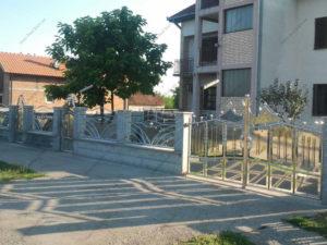 Ворота из нержавейки №16