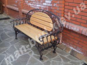 Кованые скамейки фото №14