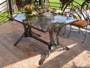 Кованые столы и стулья фото №32
