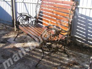 Кованые скамейки фото №15
