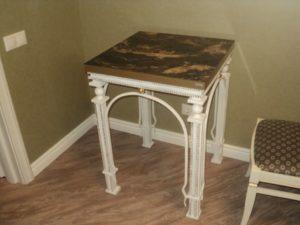 Кованые столы и стулья фото №34