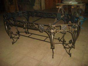 Кованые столы и стулья фото №35