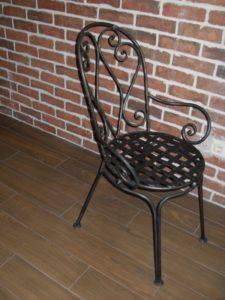 Кованые столы и стулья фото №6